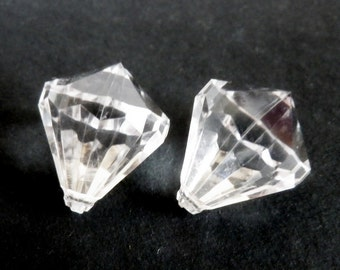 Large Crystal Buttons Tear Drop