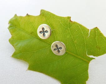 phillips head Earrings | Sterling silver post earrings | Everyday earrings | sterling silver metalwork | Flower earrings | tiny posts