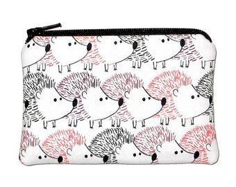 Hedgehogs Coin Purse Small Zipper Pouch - Ready to Ship