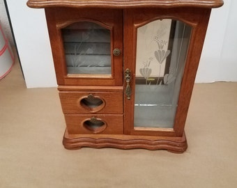 Vintage Jewelry Box/Cabinet