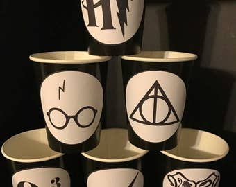 12 Harry Potter Wizard Birthday Party Cups 9 ounce