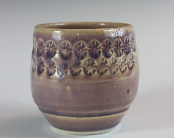 Textured Ceramic Wine or Asian Inspired Tea Cup for Home Decor Modern Pottery