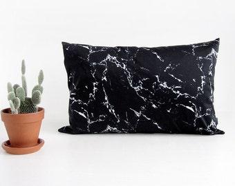 Marble pillow, throw pillow, modern decor, minimalist decor, hipster decor