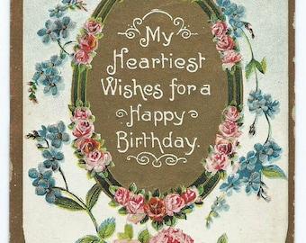 Vintage 1910 Happy Birthday Postcard