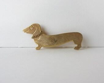 Vintage Wiener Dachshund Dog Pin