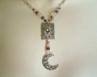 Gypsy Moon Necklace, gypsy jewelry boho jewelry bohemian jewelry hipster jewelry moroccan new age hippie hipster necklace boho necklace