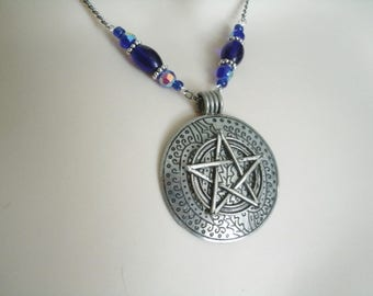 Gypsy Traveler Pentacle Necklace, wiccan jewelry pagan jewelry wicca jewelry witch witchcraft pentagram goddess magic gothic wiccan necklace