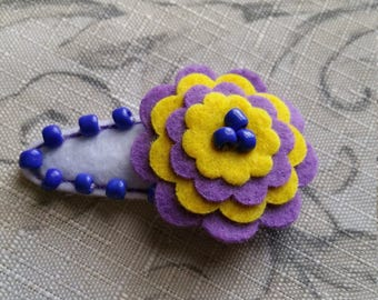 Clearance Outspoken Large Flower Snap Clip / Felt Clip Cover/ Ready To Ship
