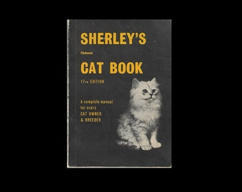 Vintage Paperback: Sherley's Famous Cat Book. 17th Edition. Manual. 1970s