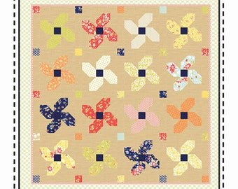 Coney Island Quilt Kit - Posey Parade Pattern - Moda Coney Island Fabric - Fig Tree Fabric Quilt Kit