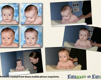 Canvas Art Grouping of Your Baby