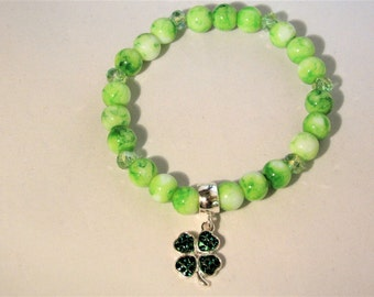 Four Leaf Clover Stretchy Bracelet