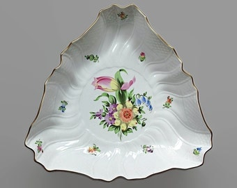 Hand Painted Herend China Serving Bowl Porcelain Vegetable Bowl Chic Floral China