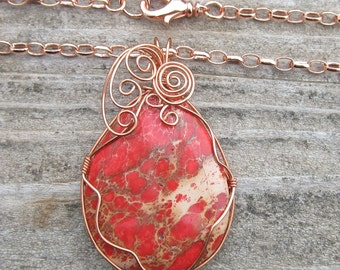 Magnesite Wire Wrapped Pendant