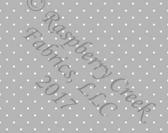 Grey and White Pin Polka Dot 4 Way Stretch FRENCH TERRY Knit Fabric, Club Fabrics