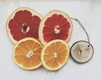 Orange Citrus Scent Diffuser / Grapefruit Lemon Lime / Wood Slice / Air Freshener / Car Freshener / Party Gift Under 10 / Summer Party Favor