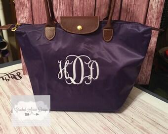 Monogrammed Bag, Monogrammed Shoulder Bag, Embroidered Purse, Monogram Tote, Personalized tote, Monogrammed purse, personalized purse