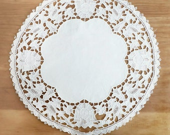 Egyptian Revival Lace Doily, Art Deco
