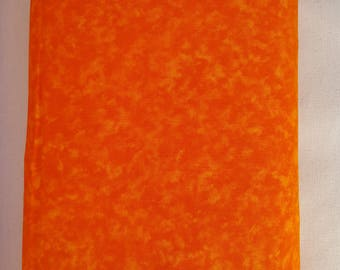 "Poppy Orange Blender 108"" wide back 100% cotton fabric"