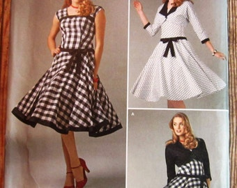 Misses Retro Style Dress and Lined Jacket Sizes 4 6 8 10 12 Simplicity Pattern 1061 UNCUT