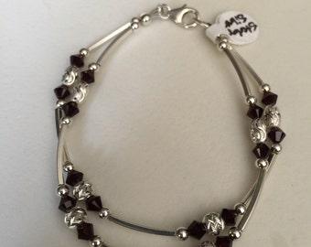 Double strand Sterling Silver bracelet