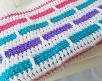 Crochet Baby Blanket, Crochet Blanket for Girls, Baby Blanket