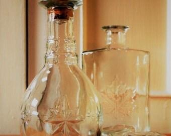 Vintage 1950s Glass Liquor Decanter