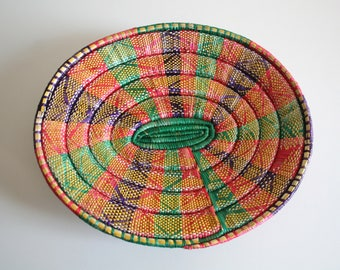 Colorful Footed Platter Basket