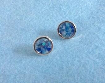 14k Opal Mosaic earrings