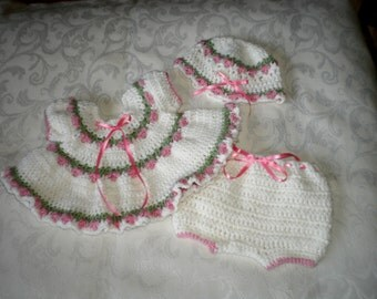 Newborn 3 Piece Dress Set