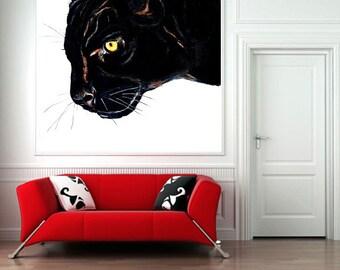 Black Panther Art - Big Cat Wildlife Drawing - Art Giclee Print