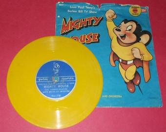 "Golden Records Mighty Mouse Farmer Al Falfa 7"" Record Terrytooners"