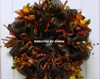 Fall Wreath, Autumn Wreaths