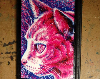 5x7 in Art Block Plaque - Ready to Hang Art Print Mounted on Wood - Kitty
