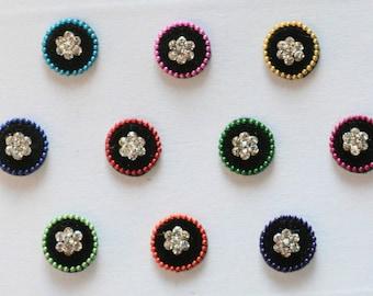 Floral Bindi Self Adhesive Indian Dots Wedding & Bridal Fashion Jewelry Accessory