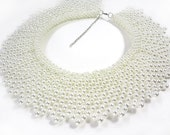 Pearl Collar Necklace - White - Collar Necklace - Vintage Inspired
