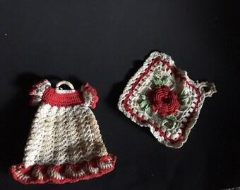 Crochet decorative kitched potholders