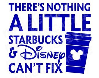 VINYL DecaL - DIY Iron On - Starbucks and Mickey