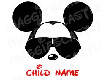 VINYL DecaL - DIY Iron On - Mickey with Sunglasses
