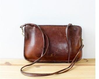 70s Coach Crossbody Bag • Vintage Coach Purse • Brown Leather Crossbody • Brown Leather Purse • Vintage Coach Bag • 70s Purse | B633