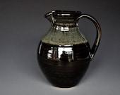 Pottery Pitcher Stoneware Ceramic Pitcher Hand Made Pottery Jug A