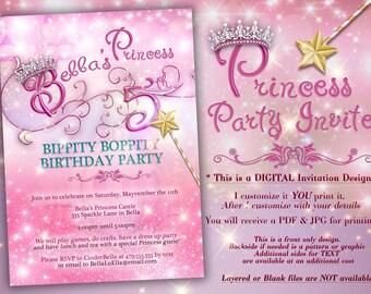 prinzessin party einladung geburtstag party-einladungen, Einladungsentwurf