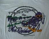 Vintage 80's The California Raisins I heard it through the grapevine music tour 1987 Soft Thin T shirt L