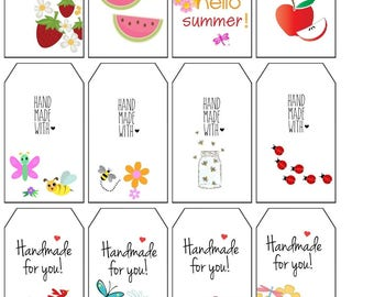 Crochet Gift Tags, Summer Labels PDF Crochet  Gift Tags Printable Gift Tags Digital File Only