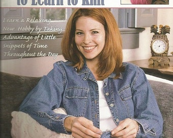 Leisure Arts 10- 20- 30 Minutes to Learn To Knit Book