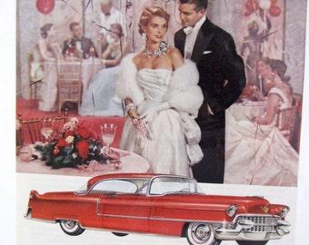1955 Caddy Cadillac Vintage Original GM Classic Car Auto Ad
