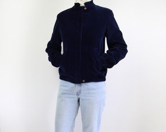VINTAGE 1980s Corduroy Jacket Dark Blue