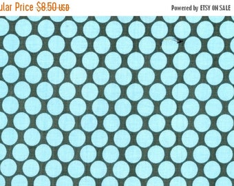 Christmas Sale Amy Butler Fabric Full Moon Polka Dot in Slate - 1 Yard