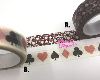 Playing Cards Washi Tape 15mm x 10m WT53 WT660
