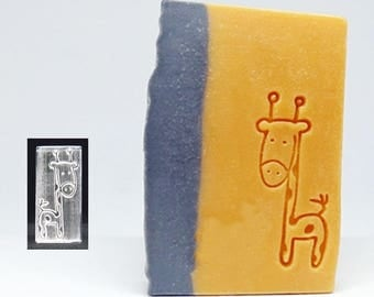 SoapRepublic Giraffe Acrylic Soap Stamp / Cookie Stamp / Clay Stamp